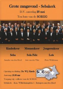 Grote zangavond 20 mei 2017 Sebakerk