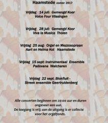 Voice Four geeft zomerconcert in Haamstede