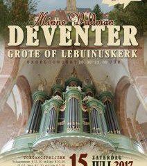 Lebuinuskerk Deventer orgelconcert door Minne Veldman