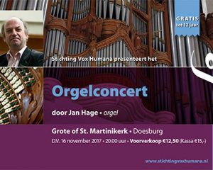 Doesburg orgelconcert Jan Hage