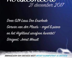 Immanuelkerk Enschede kerstconcert Laus Deo