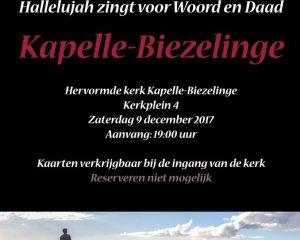 Mannenkoor Hallelujah concert Kapelle-Biezelinge