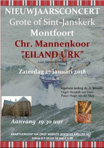 Montfoort nieuwjaarsconcert mannenkoor Eiland Urk