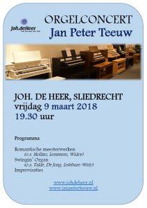 Sliedrecht orgelconcert Jan Peter Teeuw