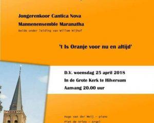 Grote kerk van Hilversum oranjeconcert