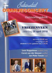 Vriezenveen ontmoetingskerk oranjeconcert