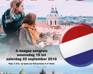 hollands jongerenkoor zingt in Praag