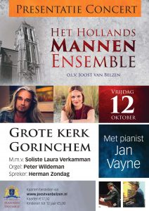 presentatieconcert hollands mannenensemble