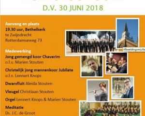 Bethelkerk van Zwijndrecht zomerconcert voor Jafet