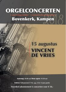 Bovenkerk Kampen orgelconcert Vincent de Vries