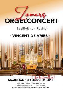 Basiliek van Raalte zomerconcert Vincent de Vries