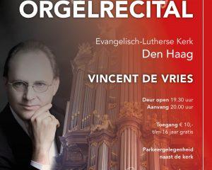 Den Haag feestelijk orgelrecital Vincent de Vries