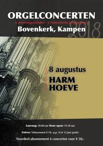 Harm Hoeve speelt in de Bovenkerk van Kampen