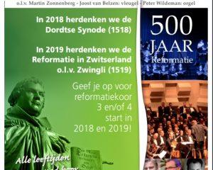 Het Groot Reformatiekoor gaat van start