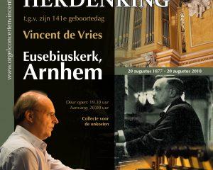 Arnhem Jan Zwart herdenking met organist Vincent de Vries