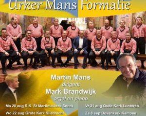 Jozefkerk van Assen zomerconcert Urker Mans formatie
