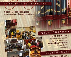 Rehobothkerk van Urk met de 8e Youtube orgeldag