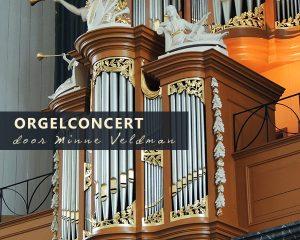 grote kerk van Harderwijk met orgelconcert Minne Veldman