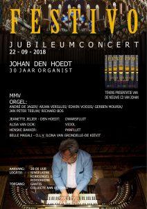 Festivo jubileumconcert Johan den Hoedt 30 jaar organist