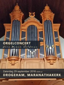 Maranathakerk van Drogeham met Minne Veldman orgel