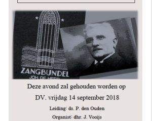 Triumfatorkerk te Katwijk samenzangavond