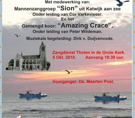 grote kerk van Tholen Katwijks Mannenkoor en Amazing Grace