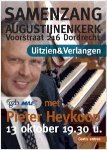 Augustijnenkerk van Dordrecht samenzang met Pieter Heykoop