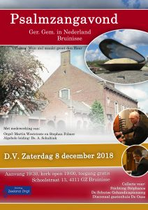 Bruinisse gereformeerde gemeente in Nederland psalmzangavond
