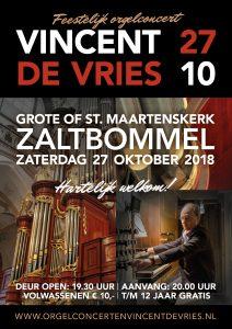 Grote kerk van Zaltbommel met organist Vincent de Vries