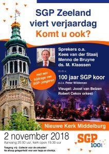 Nieuwe kerk van Middelburg SGP Zeeland viert verjaardag