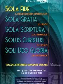 Vocaal Ensemble Sonante Vocale zingt over de Reformatie in Amersfoort
