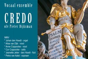 Vocaal ensemble Credo zingt psalmen in de Trinitatiskapel