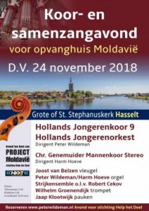 Hollands Jongerenkoor 9 zingt in in de Stephanuskerk van Hasselt