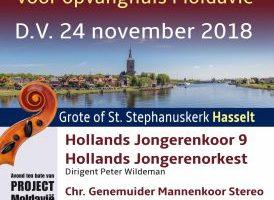 Hollands Jongerenkoor 9 zingt in in de Stephanuskerk van Hasselt