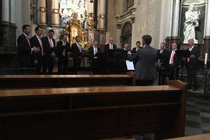Kapel Hoornbeeck College te Amersfoort met mannenensemble Cantare