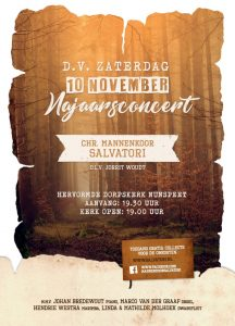 Salvatori geeft najaarsconcert in de Hervormde kerk van Nunspeet