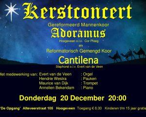 De Opgang te Hoogeveen kerstconcert met Reformatorisch gemengd koor Cantilena
