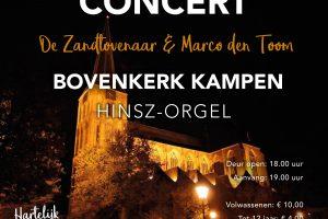 Marco den Toom en Zandtovenasar in de Bovenkerk van Kampen