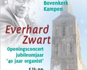 Everhard Zwart geeft een nieuwjaarsconcert in de Bovenkerk van Kampen