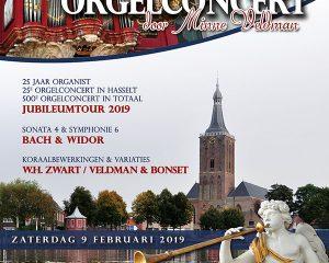 Grote kerk te Hasselt jubileumconcert Minne Veldman 25 jaar