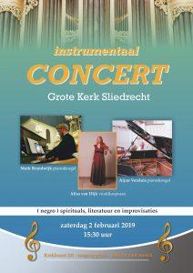 Grote kerk te Sliedrecht sfeervol instrumentaal concert