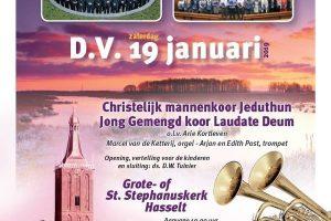Grote kerk van Hasselt nieuwjaarsconcert Jeduthun en Laudate Deum