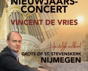 Grote kerk van Nijmegen nieuwjaarsconcert Vincent de Vries