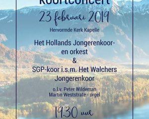 Hervormde kerk in Kappele concert met Hollands jongerenkoor