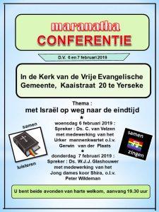 Maranatha conferentie bij Vrije Evangelische Gemeente te Yerseke