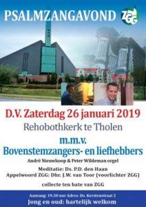 Rehobothkerk te Tholen psalmzangavond