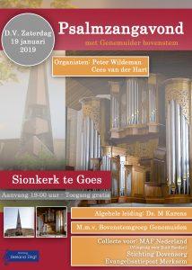 Sionskerk te Goes psalmzangavond met Genemuider Bovenstem