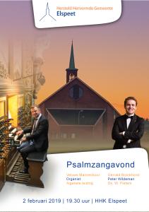 hersteld hervormde kerk te Elspeet met het Groot Veluws Mannenkoor