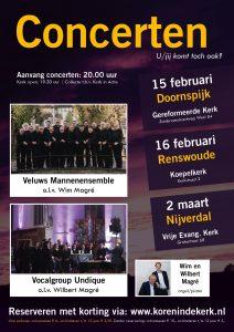 Vrije evangelisch kerk te Nijverdal concert met Magre