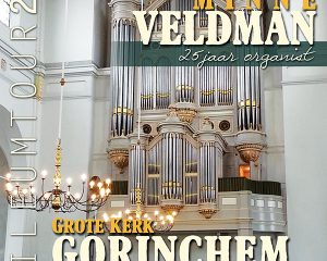 Grote kerk te Gorinchem Minne Veldman 25 jaar organist